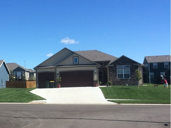 One of the homes in the subdivision