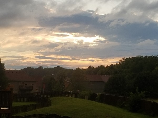 The sunset looking over Ward Park Place subdivision