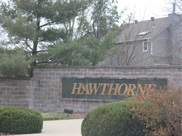 Hawthorne Place monument sign