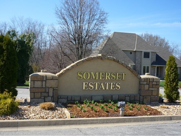 The sign at the entrance to Somerset Estates