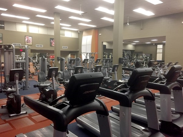 The fitness center at Tomahawk Ridge Community Center contains top-of-the-line equipment