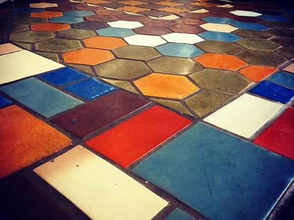 Retro tile floors