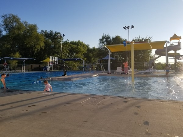 Something for everyone! Slide, zero entry kids area, diving boards and swimming lanes