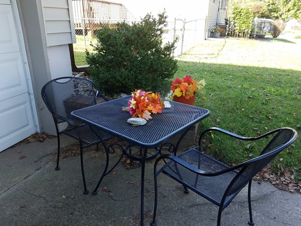 A sweet little fall table!  I love the impromptu romance of this scene in Liberty Manor