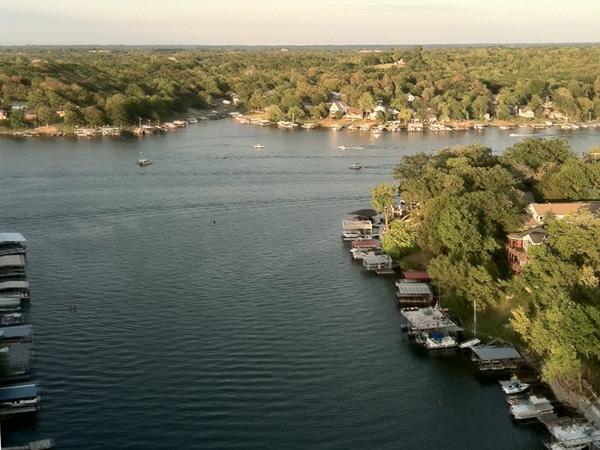 Aerial view of beautiful Lake Lotawana.