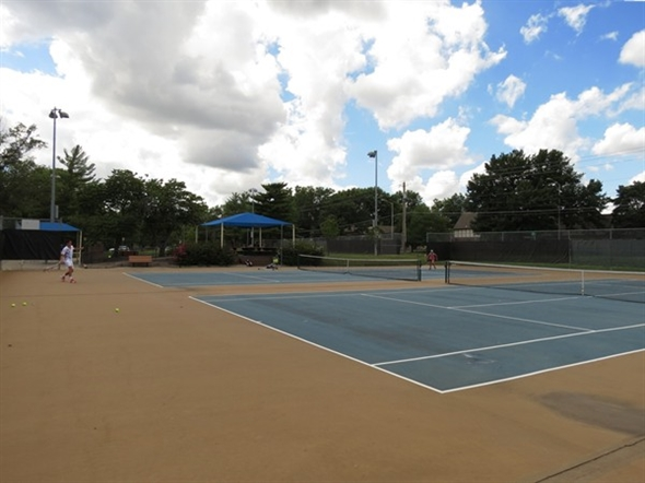 Tennis, anyone?  Enjoy beautiful courts at the Indian Creek Recreation Center at 103rd and Metcalf