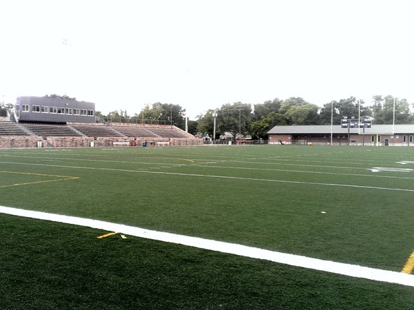 One of the district football stadiums at North Kansas City High School