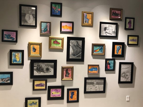 Look at all of these talented kiddos - see them during Noterre's Art Display now until the 21st