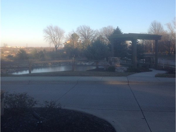 Enclave fountain at entrance. Imagine how beautiful this is during the warmer months
