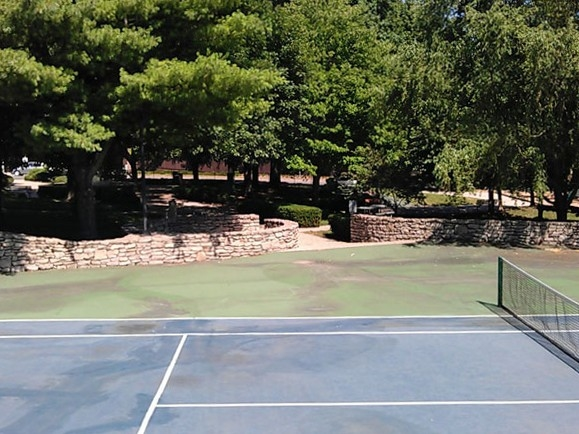 Tennis court view of the Westwood City Park