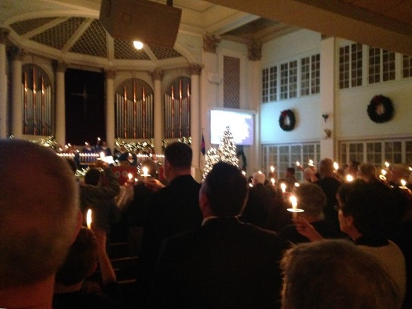 Christmas Eve candlelight service at the Presbyterian Church of Junction City