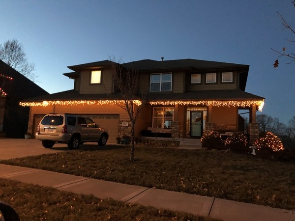 This house is ready for Christmas