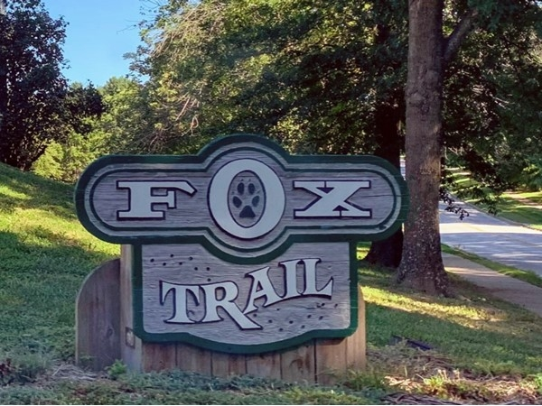 Fox Trail entrance from Adams Dairy Road facing north
