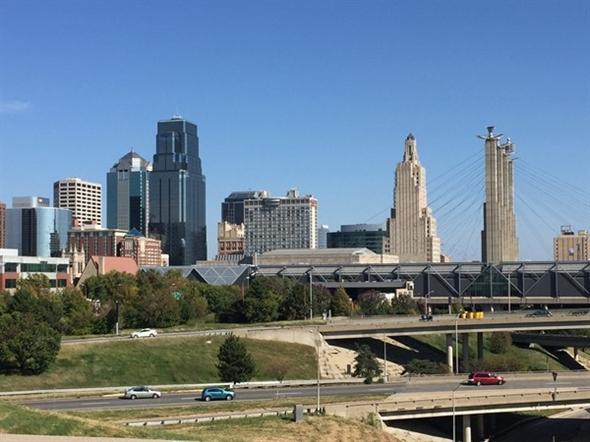 Skyline view of Downtown Kansas City