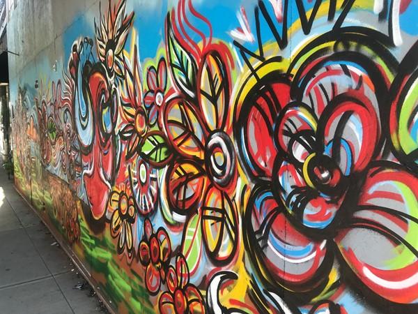 Beautiful flowers-graffiti artwork