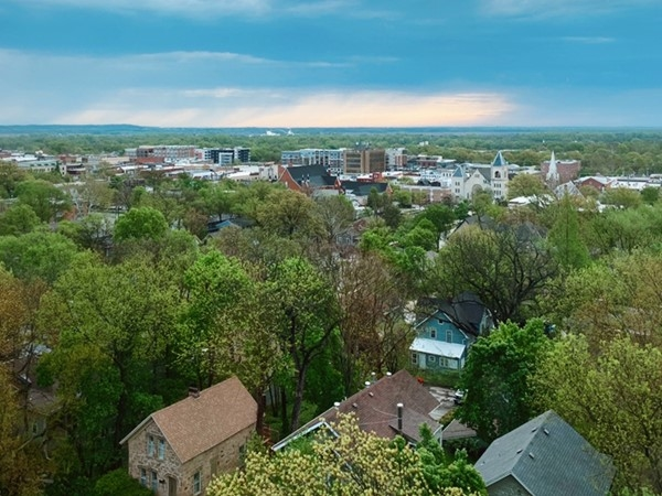 A view of Lawrence from the KU campus