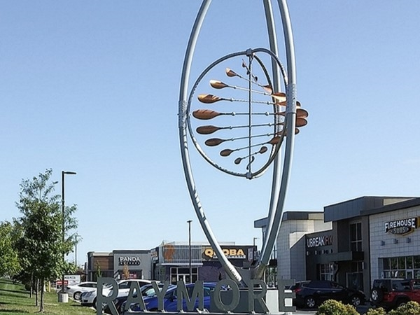 A day out in Raymore, had to take a picture of the Raymore sign