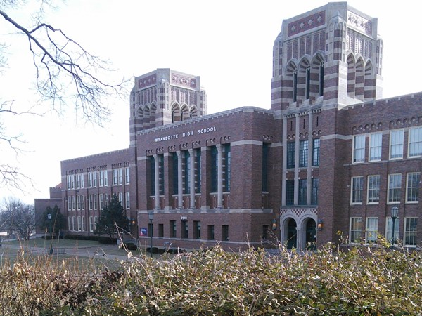 Wyandotte High School, a WPA project completed in 1937