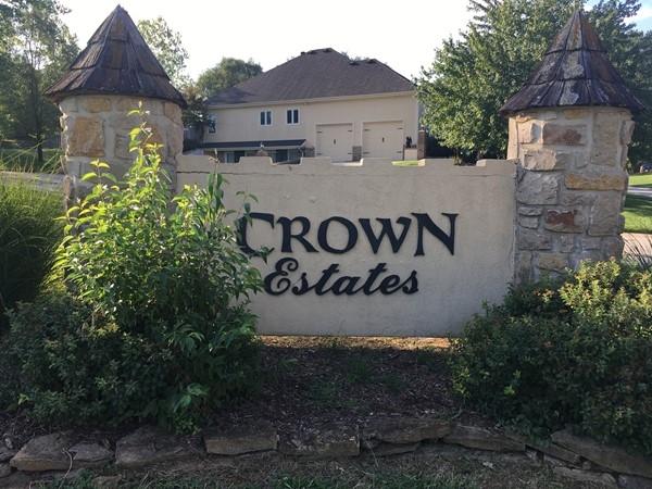 Entry to Crown Estates