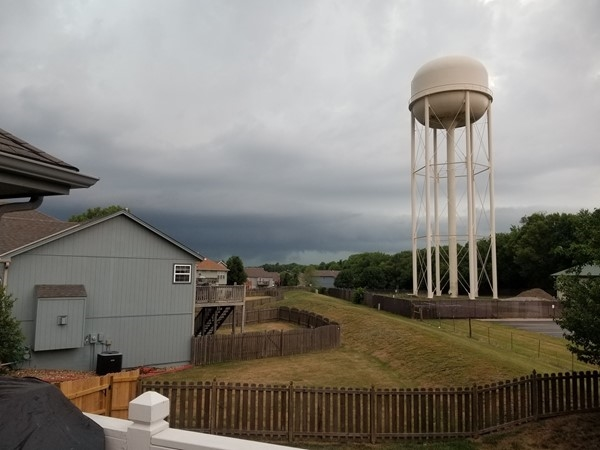 A brewing storm that gave us some much needed rain