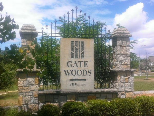 Entrance To Gate Woods Subdivision In Riverside