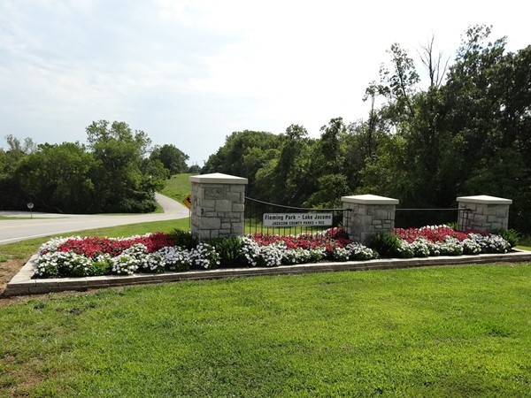 Entrance to Fleming Park - Lake Jacomo