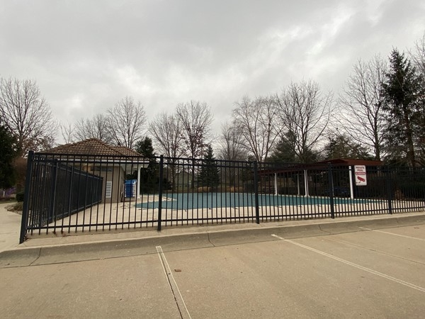 Paddock pool is all closed up for the winter