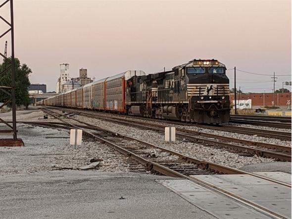 Train yards in North Kansas City