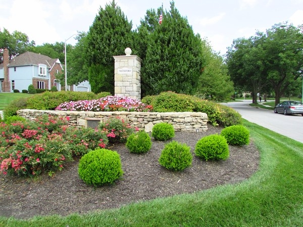 Landscaping at the entrance