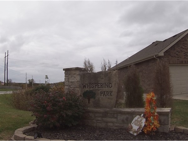 Front entrance to Whispering Park