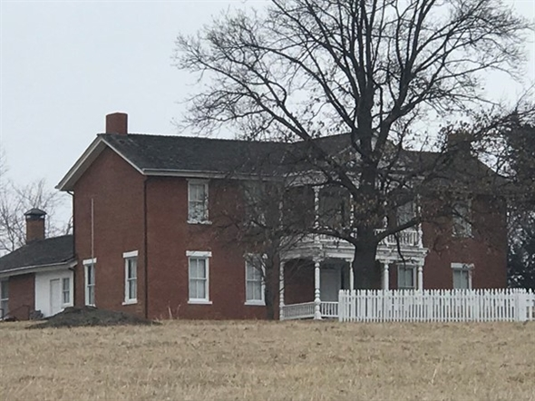 The historical Grinter home built in 1857
