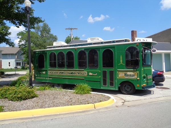 Enjoy the day with a Trolley ride thru historic Excelsior Springs