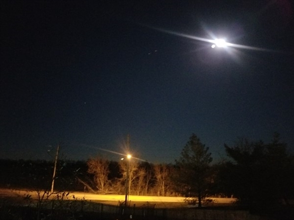 A picture of the super moon over Ward Park Place Subdivision