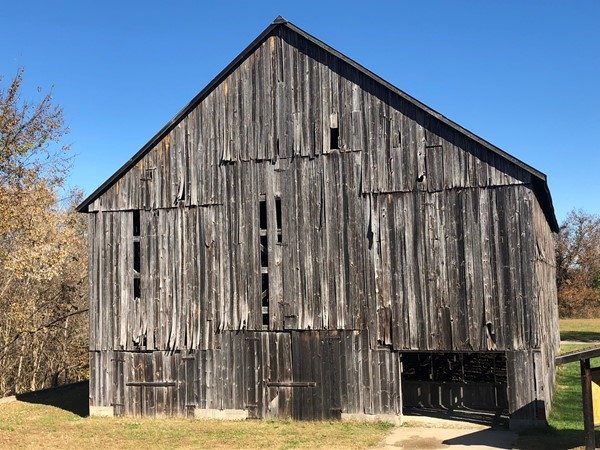Tobacco barn at Weston State Park