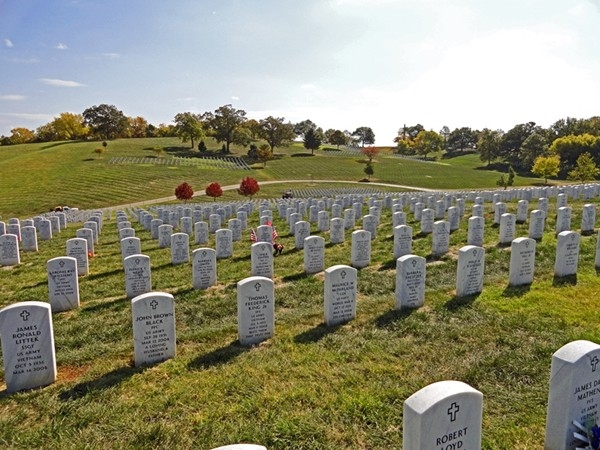 Leavenworth's National Cemetery is a peaceful place of eternal rest sitting above the Missouri River