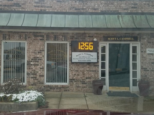 Scott Campbell's Law Office. Located across from the Court House