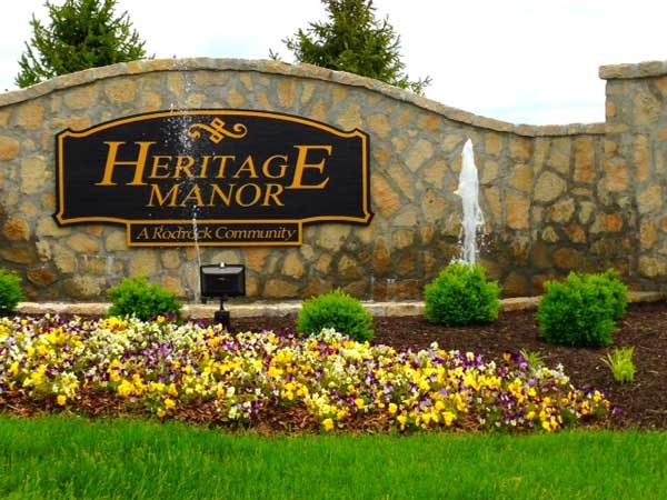 Entrance to Heritage Manor, a new Rodrock community in Olathe, KS.