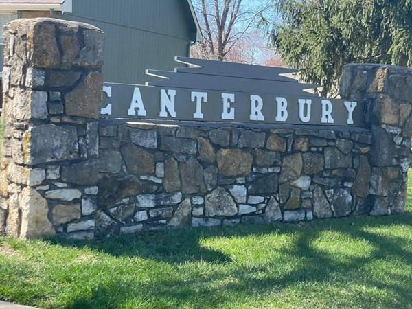 Canterbury Subdivision signage