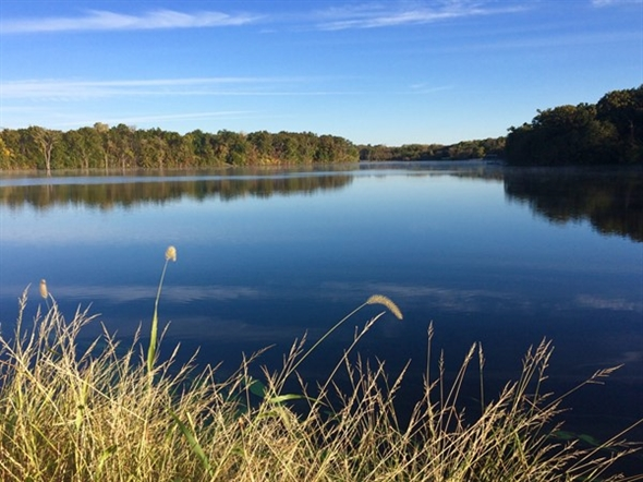 It's a perfect day to walk the 1.5 mile trail around Lake Remembrance
