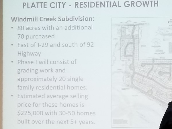 Windmill Creek Subdivision announcement at the City of Platte City Chamber luncheon by EDC
