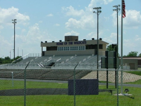 Newly remodeled Louisburg Wildcat Stadium for football and track. Soccer fields just added too