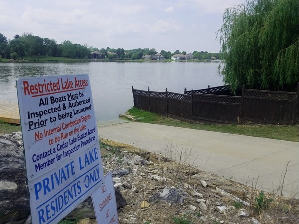 Cedar Lakes subdivision offers residents a private lake, but it does have some rules to follow