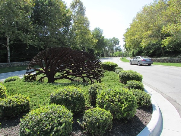 College Boulevard entrance to the Woods subdivision
