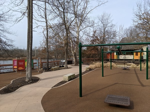 """There's a great new playground in """"Africa"""" with a view of the lake"""
