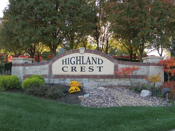 The Highland Crest entrance with fall color