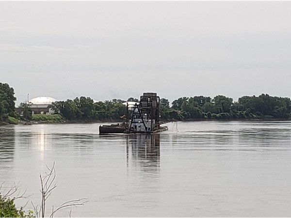 Dredging the river