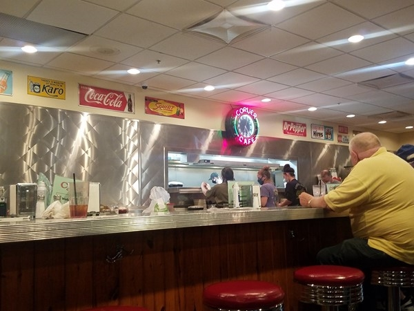 It's always busy at the Corner Cafe, but it's perfect for a yummy meal at a fair price