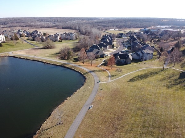 Aerial view of The Wilderness in Overland Park. December 2019