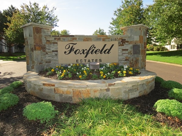 The entrance to Foxfield Estates along 119th Street