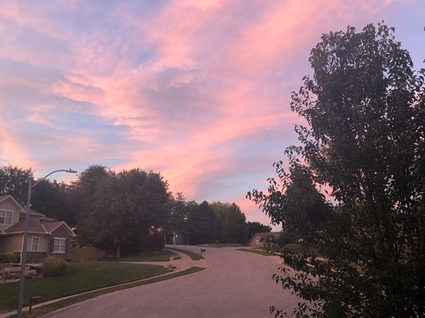 Gorgeous, September sunset in Hills of Oakwood! Welcome fall